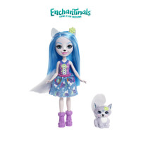 Enchantimals Winsley Wolf Doll and Trooper Figure - Mainan Perempuan