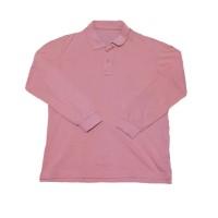 Long Sleeve Salmon Pink Polo Shirt