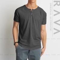 Harga new baju kaos pria raglan henley oblong by rava premium best product | antitipu.com