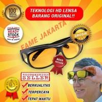 Kacamata Hd Vision Sunglass 1 Box 2 Pcs Hitam & Kuning Bukan Kualitas