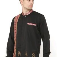 Baju Muslim Pria Terbaru Lengan Panjang Koko Warna Hitam