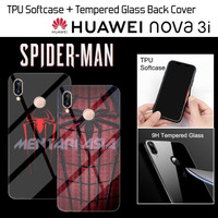 Softcase HUAWEI Nova 3i - SPIDERMAN Tempered Glass Back Cover