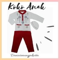 Baju Koko Anak Putih mix Anak 4-8 th Katun Kaos Combed 1015