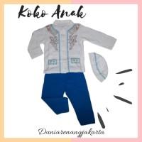 Baju Koko Anak Putih mix Bayi Balita Katun Kaos Combed 1074