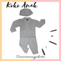 Baju Koko Anak Putih Bayi Balita Katun Kaos Combed 6797