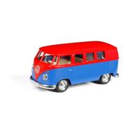 Rmz City Volkswagen T1 Transporter Samba Bus combi Merah Biru
