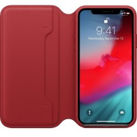 Apple iPhone XS Leather Case Folio - Red (Limited Edition)