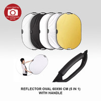 REFLECTOR OVAL 60X90 CM (5 IN 1) WITH HANDLE