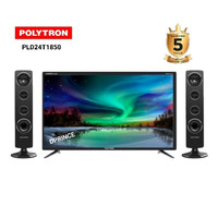 POLYTRON 24T1850 plus Speaker LED TV CinemaX [24 Inch] Garansi 5 tahun
