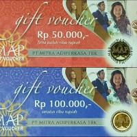 Gift Voucher MAP Mitra Adi Perkasa ( 100.000 / 2x50.000 )