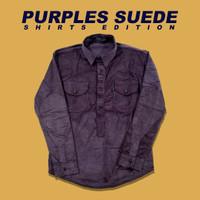 Kemeja Purple Corduroy