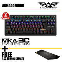 Armaggeddon Gaming Keyboard MKA-3C PsychFalco Free Mousemate AS33H