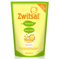 Zwitsal Natural Baby Bath MIlk & Honey Pouch 450ml