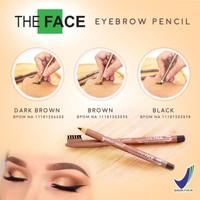 [ DARK BROWN ] THE FACE EYEBROW PENCIL / PENSIL ALIS THE FACE BPOM