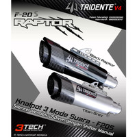 Knalpot Tridente F20 EVA 3 Suara 150 cc Full System