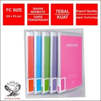 Map Document Keeper/Clear Holder Noon Color 20 Pckt E 327 - Merah Muda