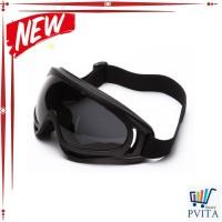 FLASH SALE Kacamata Goggles Ski UV400 - X400 - Hitam