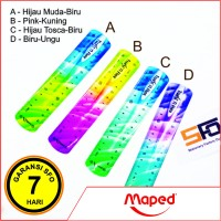 Penggaris Lentur Maped 15cm (Twist 'n Flex Decor)