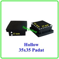 kaki karet hollow 35x35 padat