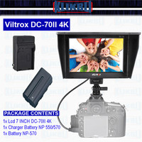 Paket VILTROX DC-70 II HDMI Monitor 7 inch DSLR camera/video camera