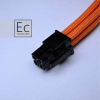 CUSTOM SLEEVE EXTENSION CABLE 4 PIN CPU PSU MOTHERBOARD