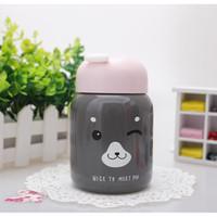 Botol mug kreatif cangkir portabel mini dengan tali gantungan - TBR023