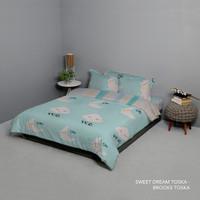 King Rabbit Bed Cover Single 140x230 cm Motif Sweet Dream Toska
