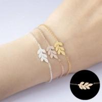 Lumeglam Leaf Shape Titanium Bracelet anti luntur