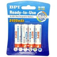 Lk11 Enelong Bpi Ni-Mh Aa Battery 2400Mah With Button Top 4 Pcs -