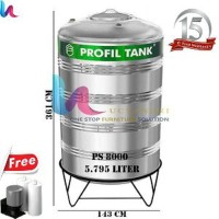 Tangki Air Stainless Profil Tank PS 8000