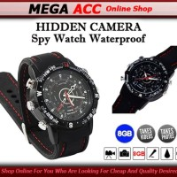 Spy Camera Watch 8Gb Water Proof - Kamera Tersembunyi Model Jam Tangan