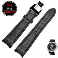 20mm 22mm Curved Leather Strap Tali Jam Tangan Melengkung Kulit