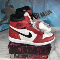 low cost 645ff 0f237 Sepatu Basket Nike Air Jordan 1 Retro High OG Origin Story Spiderman