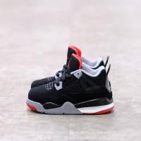 ( Toddler ) Nike Air Jordan 4 Bred 100% Authentic