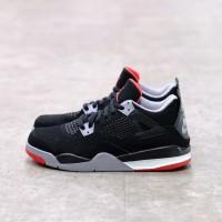 ( Pre-School ) Nike Air Jordan 4 Bred 100% Authentic