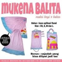 Mukena Bayi Mukenah Balita Kaos Adem Size XS (1 Tahun - 18 Bulan)