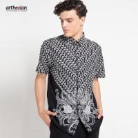 [Arthesian] Kemeja Batik Pria - Ixora Batik Printing
