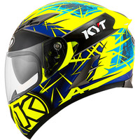 Helm KYT Falcon 2 Spike Yellow Fluo Falcon2 Kuning