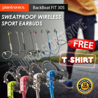 Plantronics BackBeat Fit 305 Headset Bluetooth -Original Garansi Resmi - Grey Lime