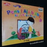 Buku cerita anak bilingual Pensil ajaib Aby dan Kaia si Kriting