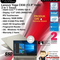 LENOVO Yoga C930 Intel Core i7-8550U/16GB/512GB SSD/Intel HD/WIN10HOME