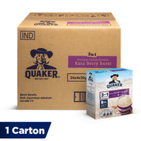 Quaker 3in1 Berry Burst Box 4 Sachets [1 Carton - 24 Pcs]