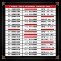 Nomor Cantik Simpati No Telkomsel Loop Indosat IM3 XL Axis