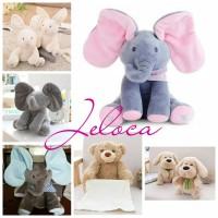 READY Sing & Peek a Boo Elephant Doll (Boneka Gajah Cilukba & Nyanyi)