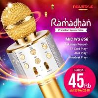 RAMADAN WS-858/WS858 Karaoke Bluetooth Wireless Microphone - Random