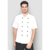Seragam / Baju Koki Lengan Pendek Putih Harga Murah Kualitas Prima