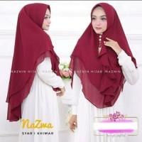 Hijab Instan Jumbo Syari Jilbab Khimar Nazma Farah Polos 2 Layer Murah
