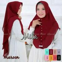 Hijab 2 Layer Mutiara Cerruty Khimar Mila Jilbab Instan Murah Syari OK