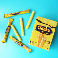 Chizku Wafer Roll Cheese Flavour - Isi 24 Pcs