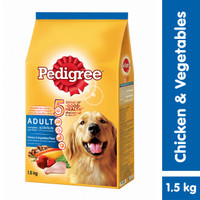 [Hot Bundle] Pedigree Dry 1.5kg Chicken & Veg + Dentastix 344gr